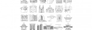 city alphabet | buildings and letters